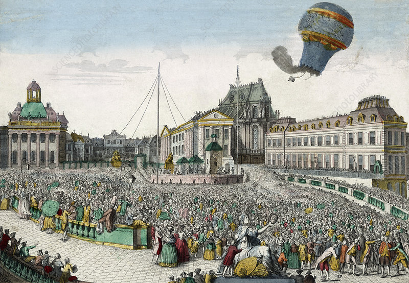 Early hot air balloon flight, 1783
