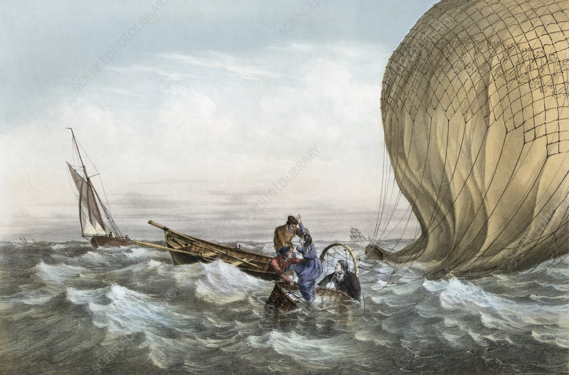 'Le Tricolore' balloon rescue, 1784