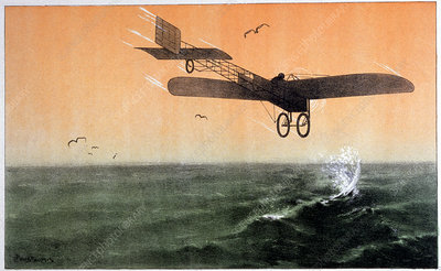 Bleriot crossing the Channel, 1909