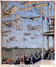 First international aviation event, 1909