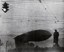 Barrage balloon over Moscow, 1942