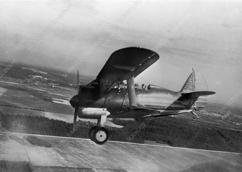 Polikarpov I-15, Soviet fighter, 1935