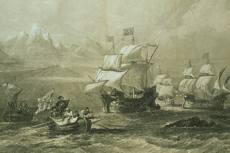 Discovery of the Straits of Magellan in 1520