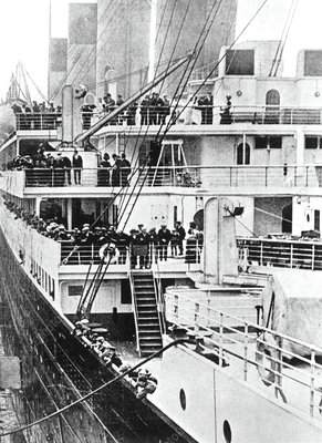 Four decks from the Titanic's sister ship