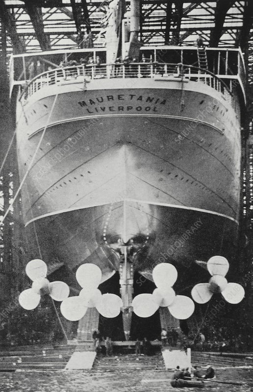 Propellers of the Mauretania liner