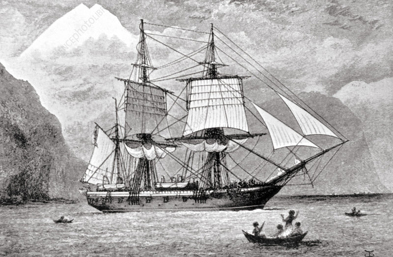 HMS Beagle, the ship that Charles Darwin sailed on