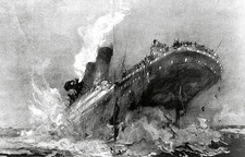 Illustration of the Titanic sinking