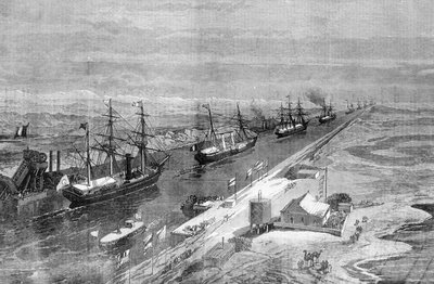 Suez Canal's opening procession of ships