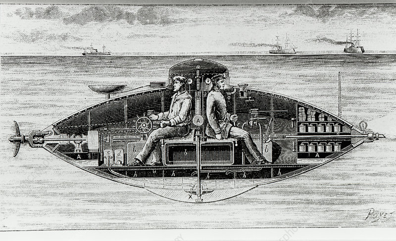 First electric submarine