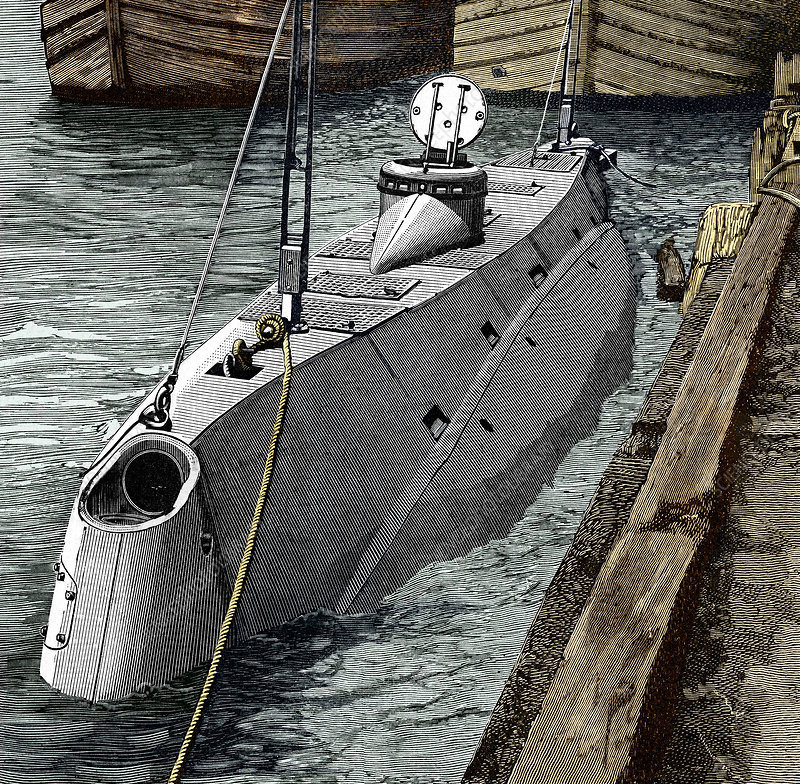 Holland submarine, New York, 1890s