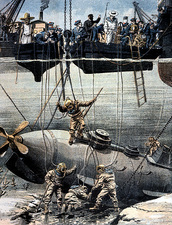 Submarine rescue, 1905