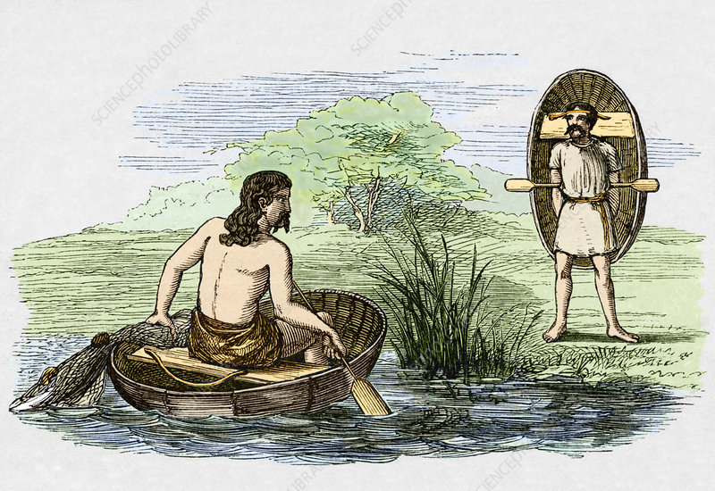 Coracle boats of the ancient Britons