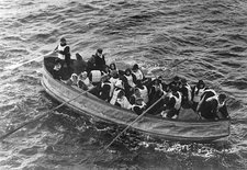 Titanic lifeboat, April 1912