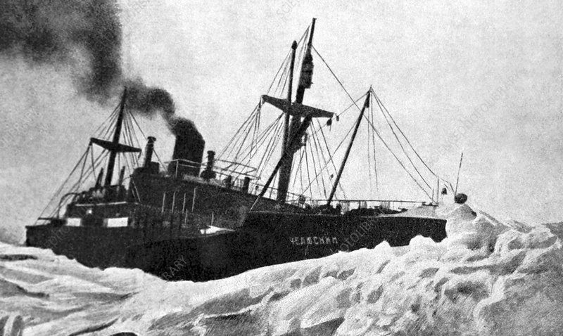 Chelyuskin steamship trapped in ice, 1933