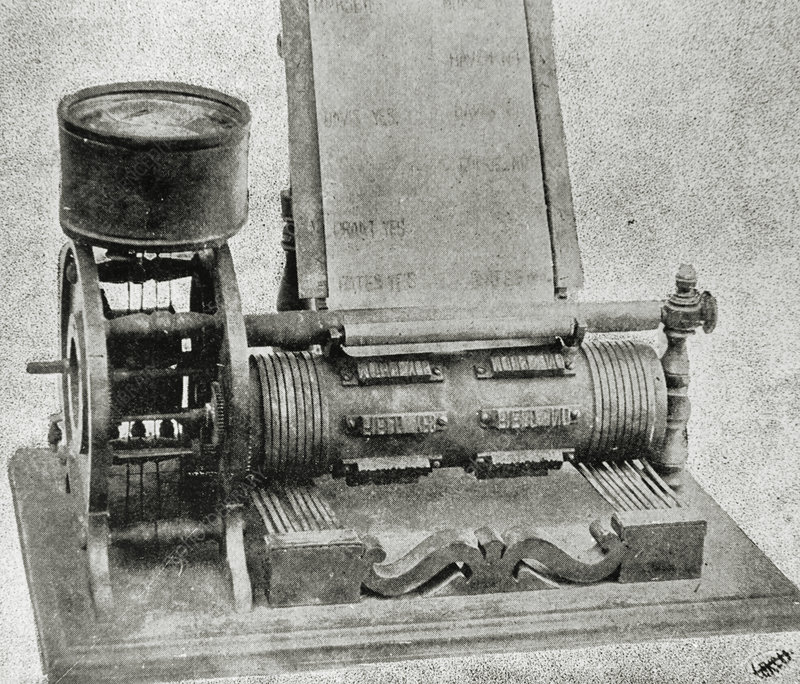 Automatic vote recorder invented by Thomas Edison