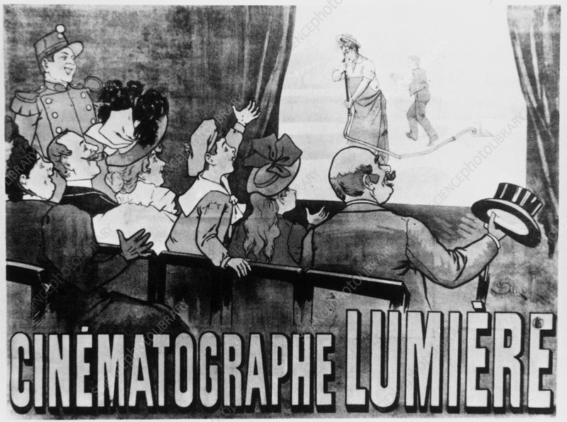 Advertisement for a Lumiere Cinematographe show