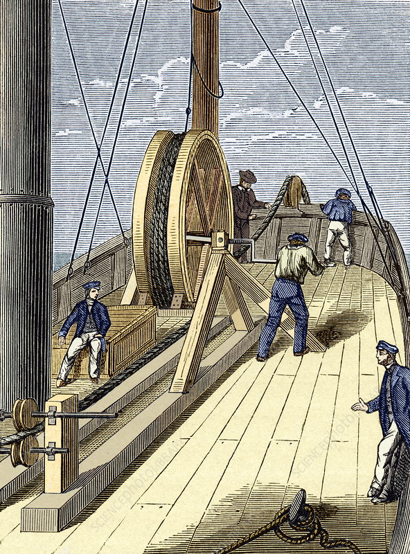 Telegraph cable laying