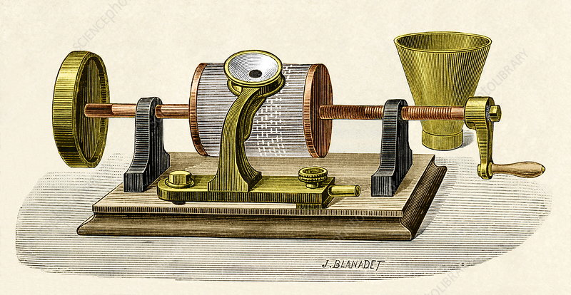 Edison's first phonograph, 1877