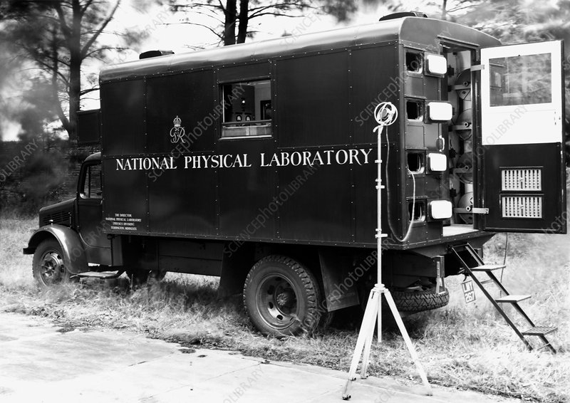 Mobile acoustics laboratory, 1940s