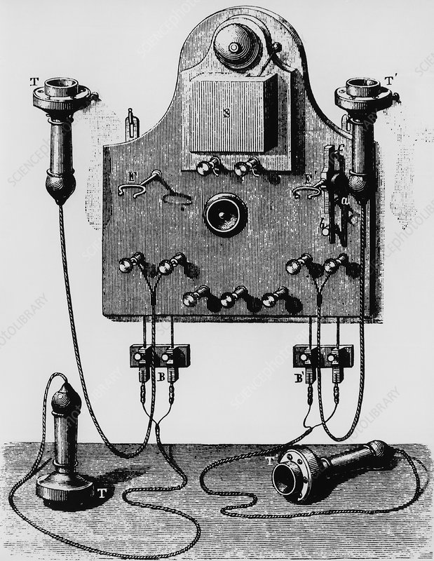 Illustration of the Bell telephone