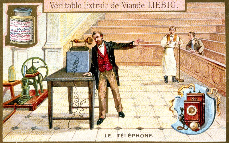 19century advertisment for 'Liebig' meat extract