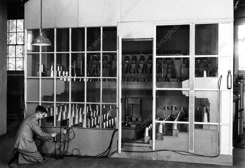 Room ventilation experiment, 1923