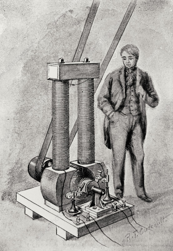 Dynamo invented by Thomas Edison in 1880.