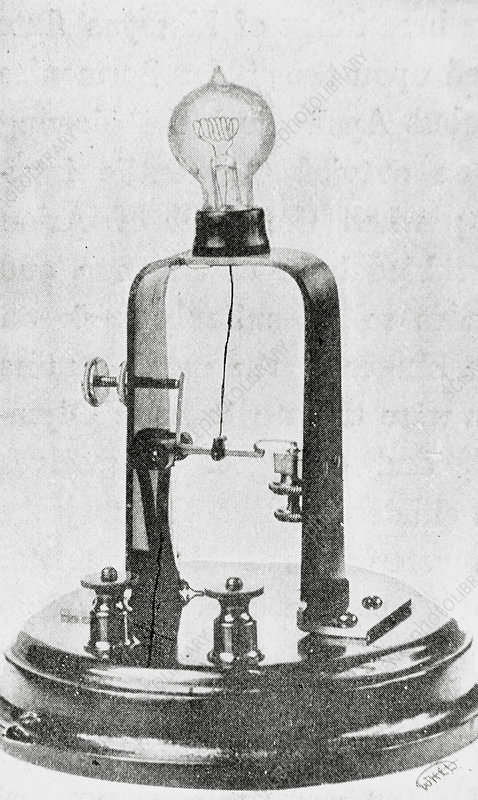 Electric lamp invented by Thomas Edison in 1880