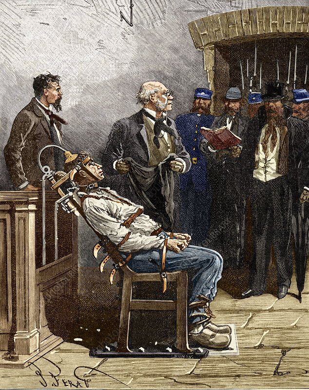 Electric chair, 1890