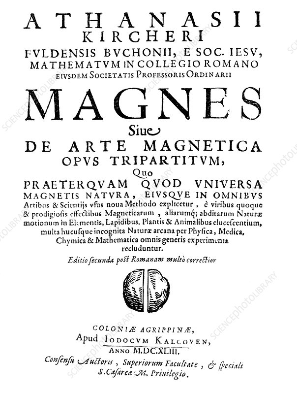 Kircher's book on magnetism, 1643