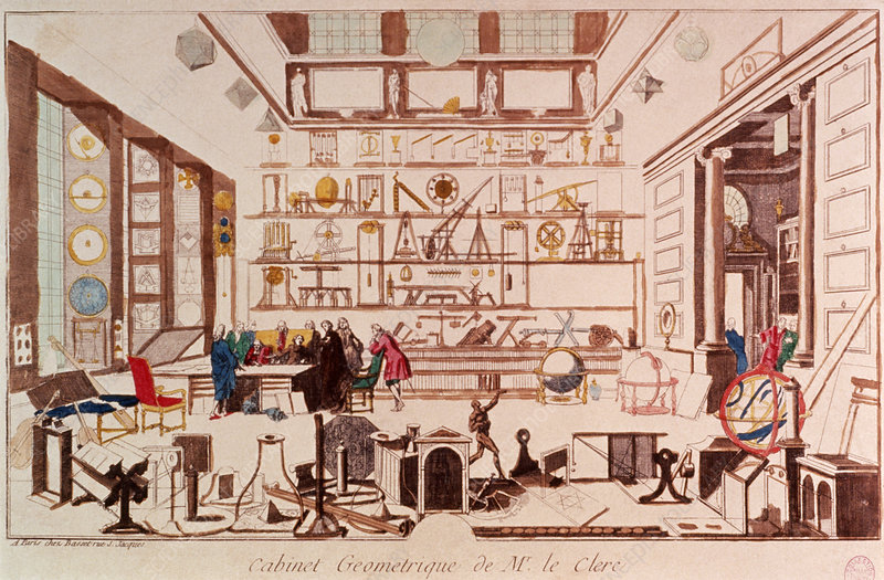 Geometrician in their laboratory, circa 1700.