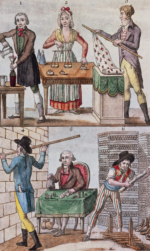 18th cent. illustration of the metric measurements