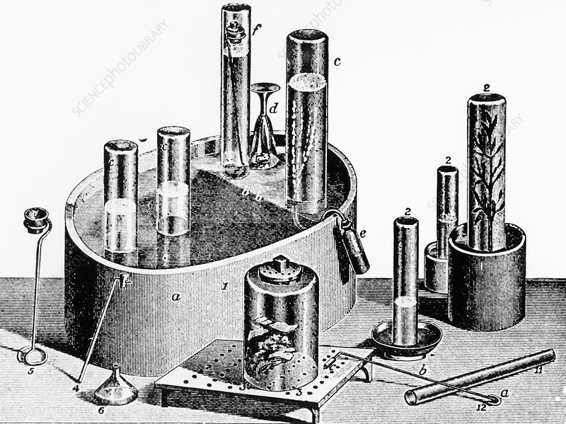 Priestley's apparatus for investigating gases