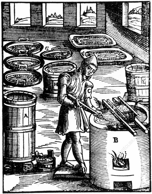Manufacture of saltpetre for use in gunpowder