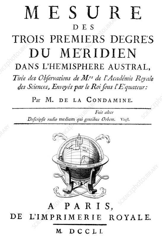 French survey expedition book, 1751