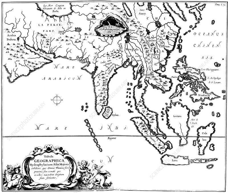 Kircher's map of Asia, 1678