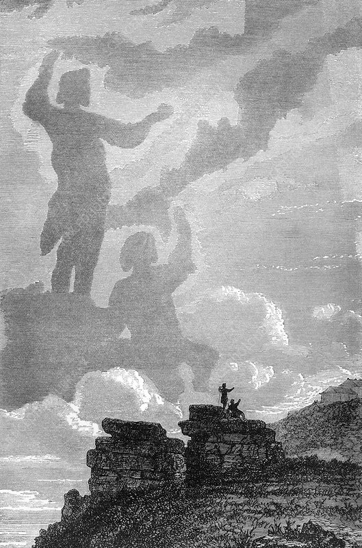 Early sighting of Brocken spectres, 1797