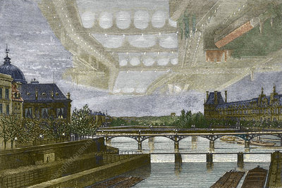 Mirage over Paris, 1869