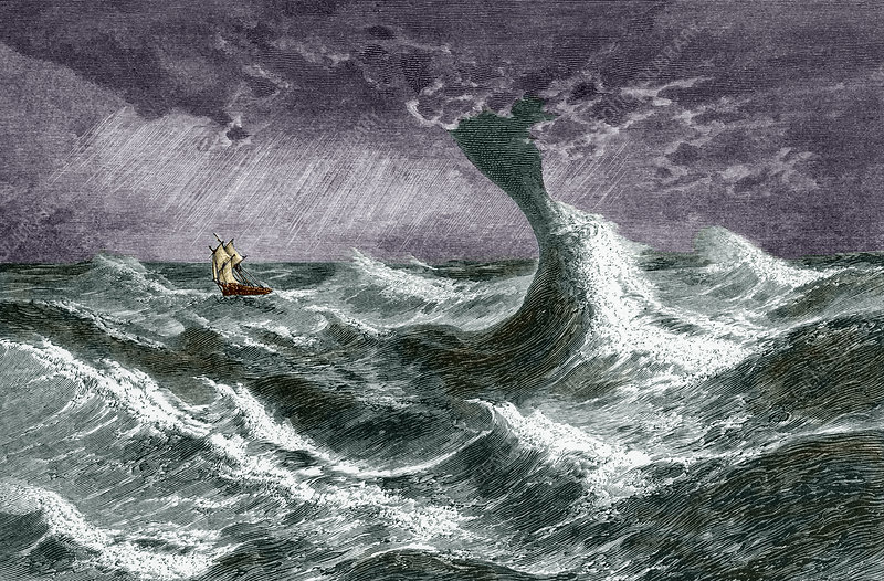 Waterspout, historical artwork