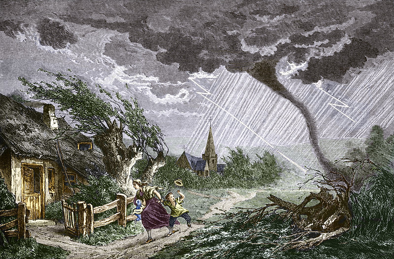 Tornado, historical artwork