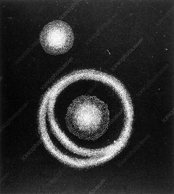 Drawing of Galaxy M51 made by John Herschel