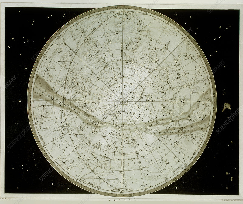 Northern hemisphere star map
