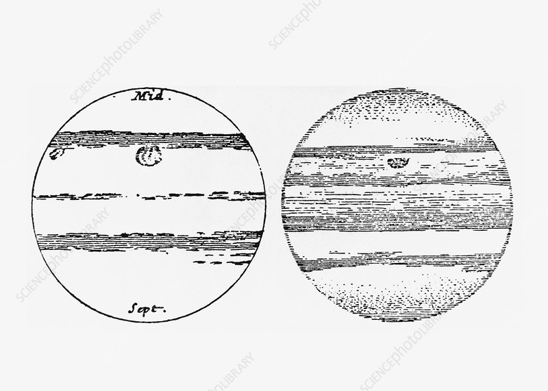 Cassini's drawings of Jupiter's Red Spot