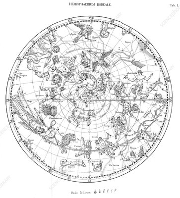 Northern celestial map