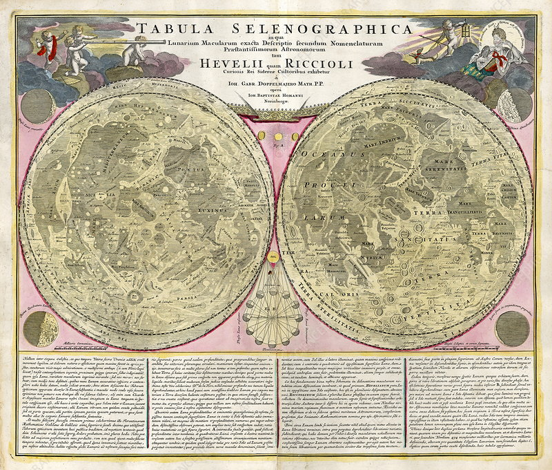 Early map of the Moon, 1635