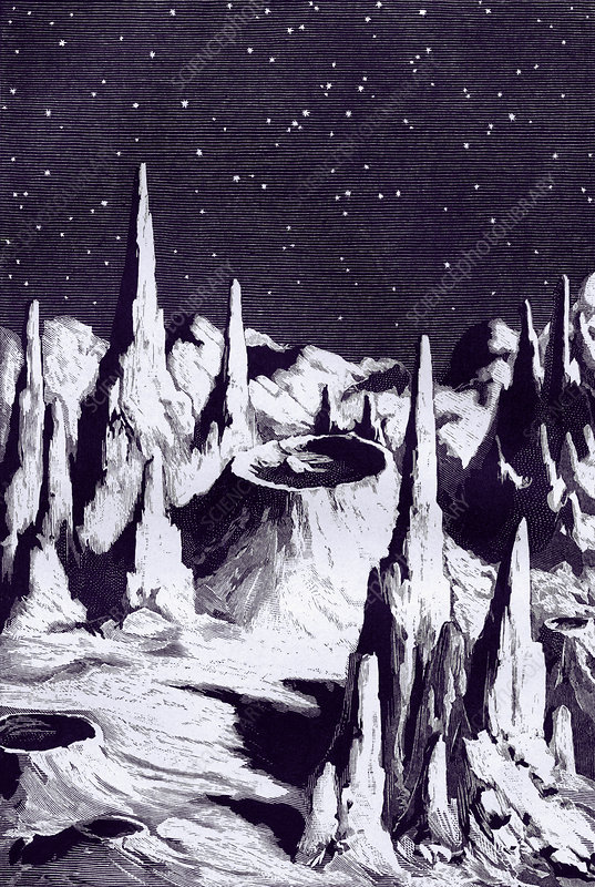 Surface of the Moon, historical artwork