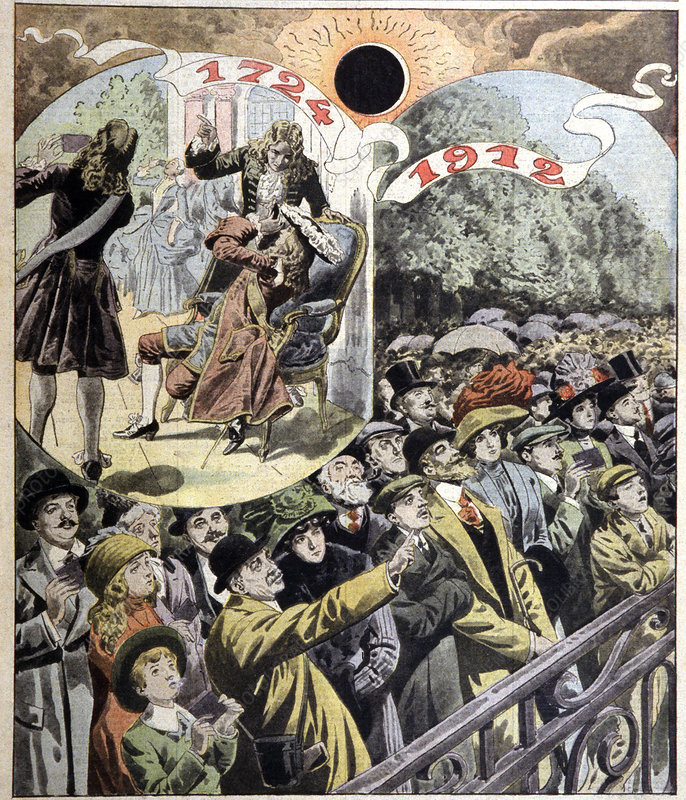 French solar eclipses of 1724 and 1912