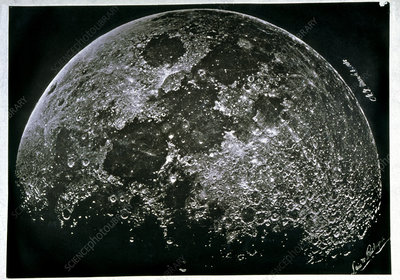 Early photograph of the Moon, 1865
