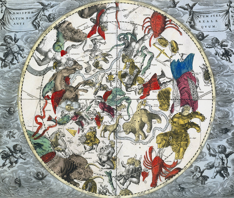 Ancient northern constellations, 1708