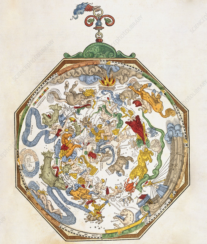 Planisphere with constellations, 1540